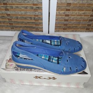 Grasshoppers Slip On Blue - Canvas
